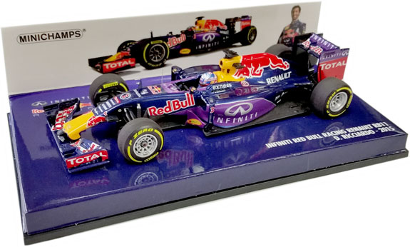 MINICHAMPS 1/43 2015 RED BULL RACING RB11 - DANIEL RICCIARDO