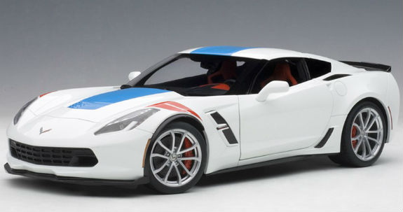 AUTOART 1/18 CORVETTE C7 GRAND SPORT - ARTIC WHITE