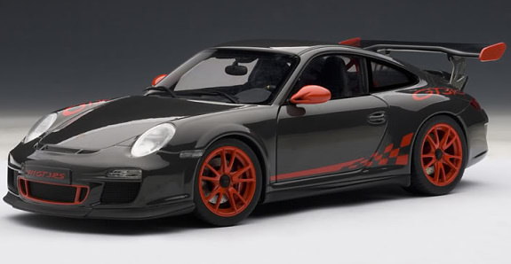 AUTOART 1/18 PORSCHE 911 ( 997 ) GT3 RS 3.8 - GREY BLACK / RED