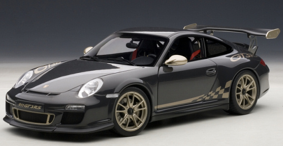 AUTOART 1/18 PORSCHE 911 ( 997 ) GT3 RS 3.8 - GREY BLACK / GOLD