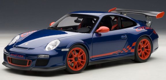 AUTOART 1/18 PORSCHE 911 ( 997 ) GT3 RS 3.8 - BLUE / RED
