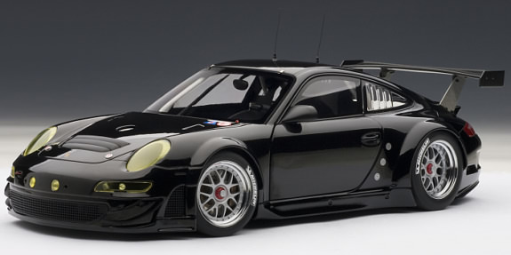 AUTOART 1/18 2010 PORSCHE 911 GT3 RSR PLAIN BODY - BLACK