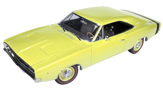 AUTO WORLD 1/18 1968 DODGE CHARGER RT - JAUNE PALE