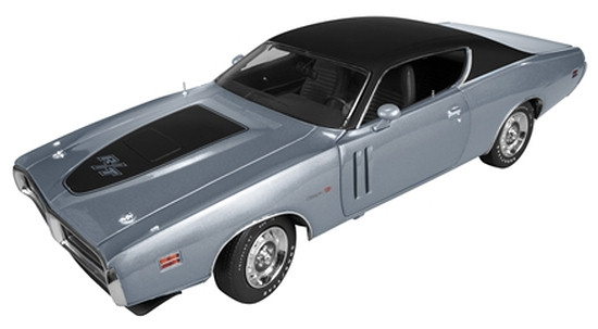 AUTO WORLD 1/18 1971 DODGE CHARGER RT - GRIS
