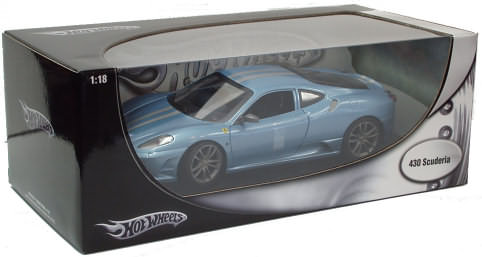 HOT WHEELS FERRARI 430 SCUDERIA - AVIO BLUE