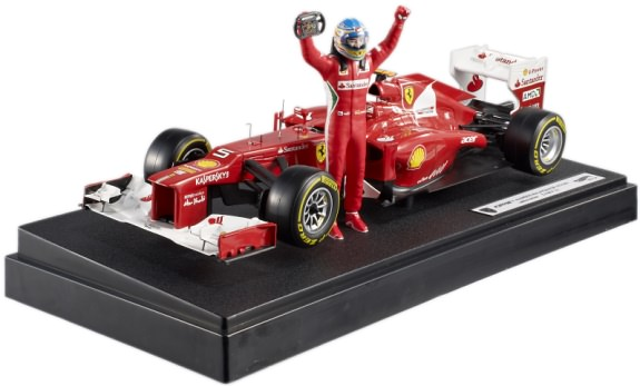 HOT WHEELS 1/18 FERRARI F2012 GP MALAYSIA WIN – FERNANDO ALONSO