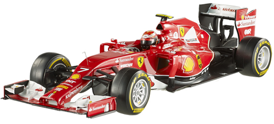 HOT WHEELS RACING 1/18 2014 FERRARI F14-T – KIMI RAIKKONEN