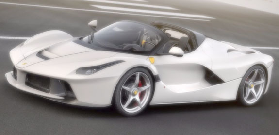 MR COLLECTION 1/18 FERRARI LAFERRARI APERTA - BIANCO ITALIA