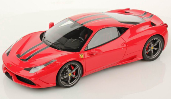 MR COLLECTION 1/18 FERRARI 458 SPECIALE - ROSSO SCUDERIA