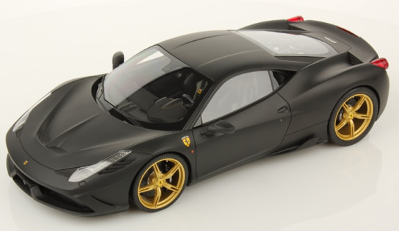 MR COLLECTION 1/18 FERRARI 458 SPECIALE - MATTE BLACK