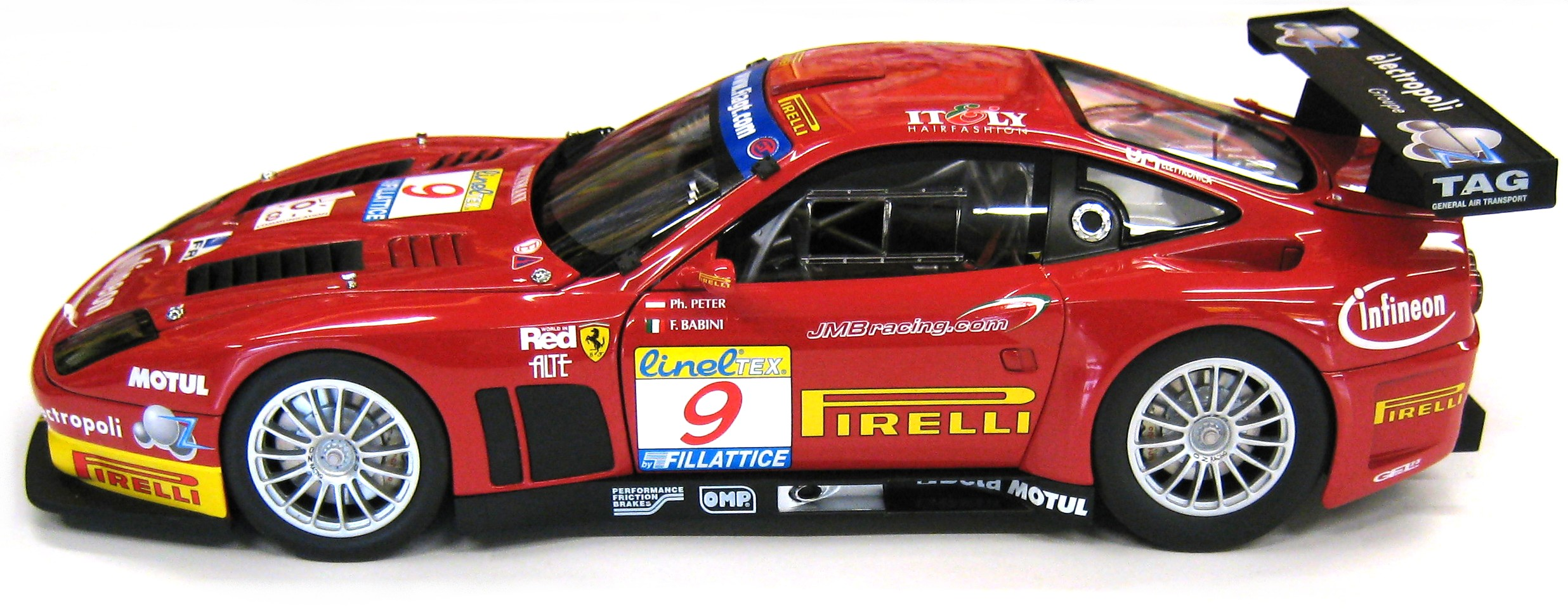 KYOSHO 1/18 2003 FERRARI 575 GTC #9 TEAM JMB WINNER ESTORIL