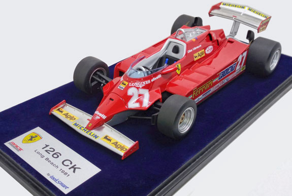 LOOK SMART 1/18 FERRARI 126CK LONG BEACH GP - GILLES VILLENEUVE