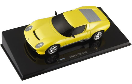 HOT WHEELS ELITE LAMBORGHINI MIURA CONCEPT - YELLOW