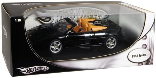 HOT WHEELS FERRARI F355 SPIDER - BLACK