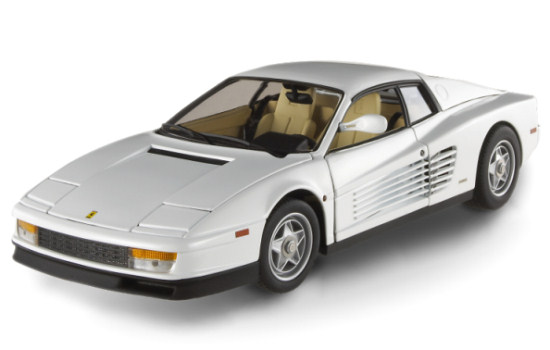 HOT WHEELS ELITE FERRARI TESTAROSSA - BLANCHE