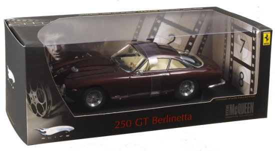 HOT WHEELS ELITE FERRARI 250 BERLINETTA LUSSO- STEVE MCQUEEN