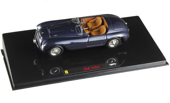 HOT WHEELS ELITE FERRARI 166 MM BARCHETTA - BLUE