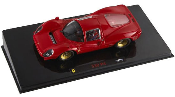 HOT WHEELS ELITE FERRARI 330 P4 PROVA TEST CAR- RED
