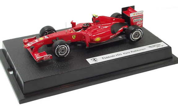 HOT WHEELS RACING 1/43 2009 FERRARI F60 – KIMI RAIKKONEN