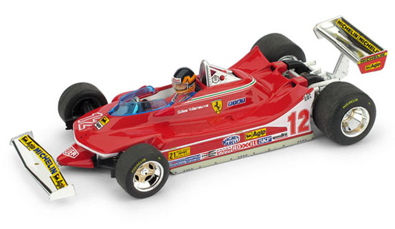 BRUMM 1/43 1979 FERRARI 312 T4 USA WEST GP – GILLES VILLENEUVE