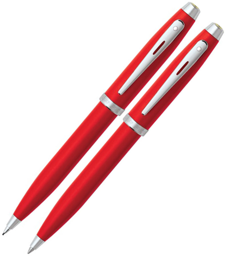 SHEAFFER FERRARI PEN AND PENCIL SET 100 SERIES - RED