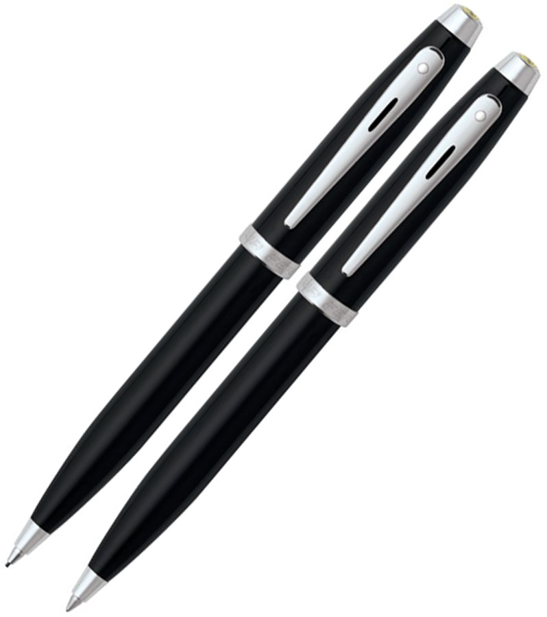 SHEAFFER FERRARI PEN AND PENCIL SET 100 SERIES - BLACK