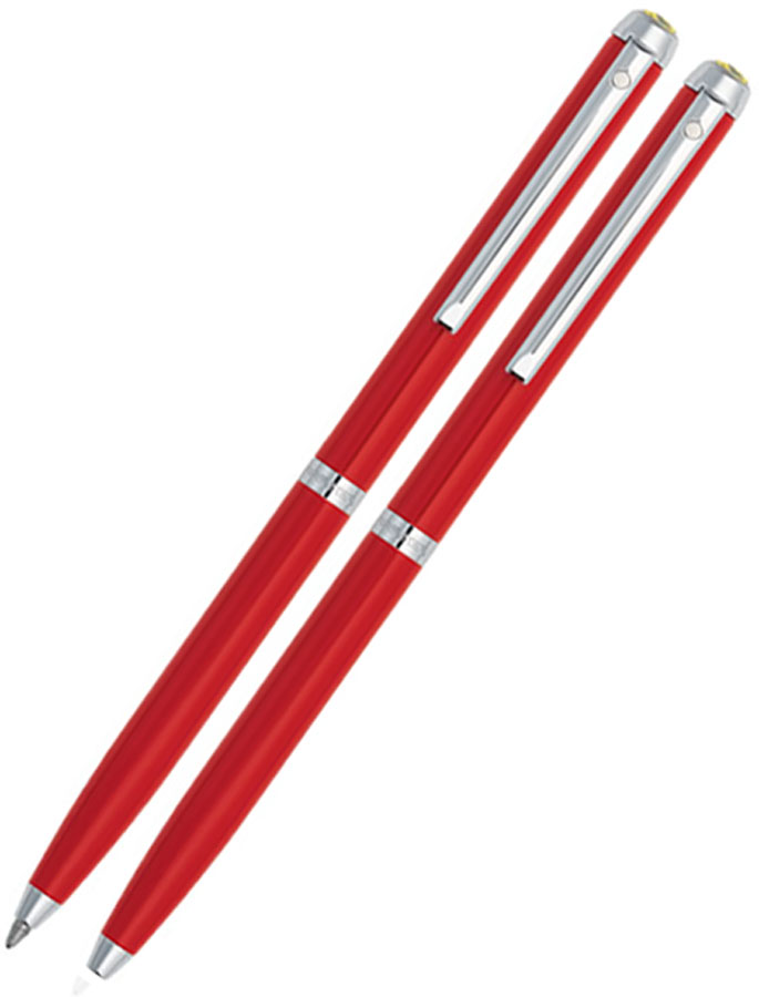 SHEAFFER FERRARI PEN AND PENCIL SET 200 SERIES - RED