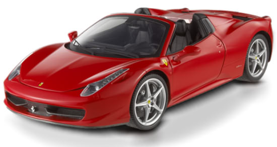 1/18 HOTWHEELS ELITE FERRARI 458 ITALIA SPIDER - RED