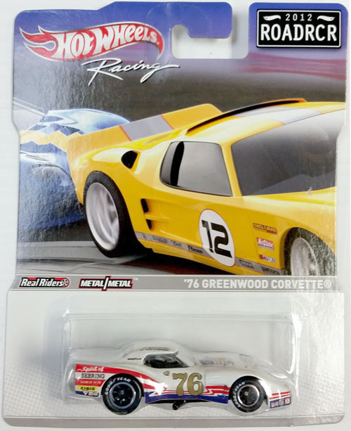 HOT WHEELS RACING 1/64 1976 GREENWOOD CORVETTE - 2012 ROADRCR