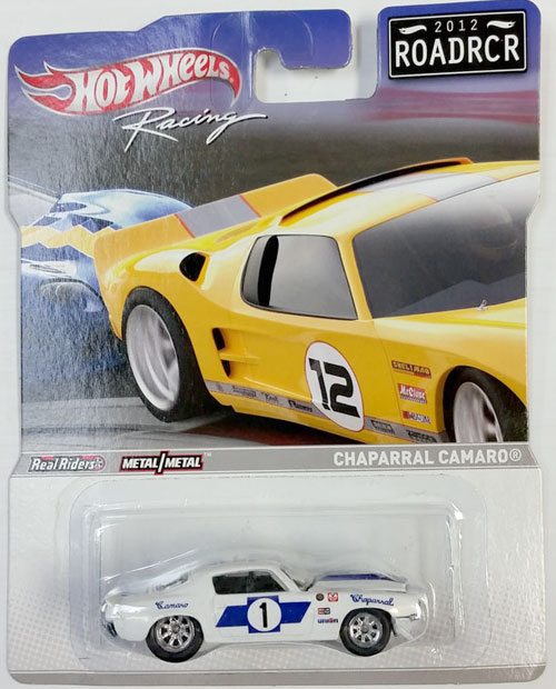 HOT WHEELS RACING 1/64 CHAPARRAL CAMARO #1 - 2012 ROADRCR
