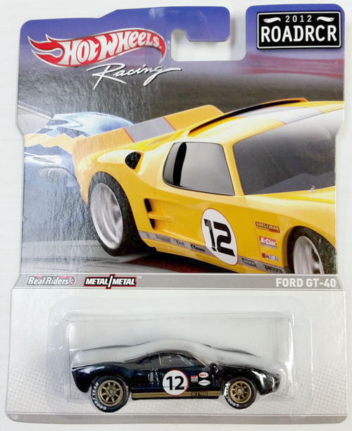 HOT WHEELS RACING 1/64 FORD GT-40 #12 - 2012 ROADRCR