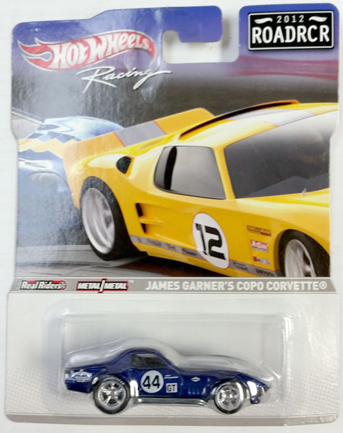 HOT WHEELS RACING 1/64 JAMES GARNER COPO CORVETTE - 2012 ROADRCR