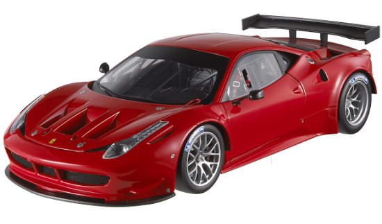 1/18 HOT WHEELS ELITE FERRARI 458 GT2 ITALIA - ROUGE