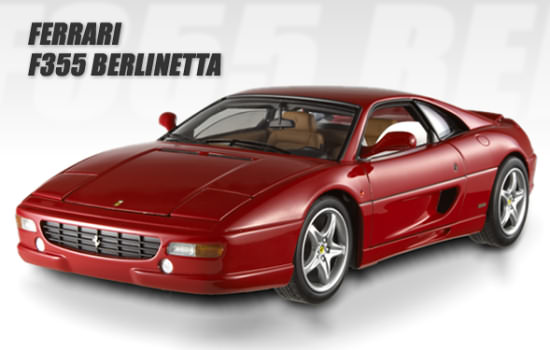 HOT WHEELS 1/18 ELITE FERRARI F355 BERLINETTA - RED