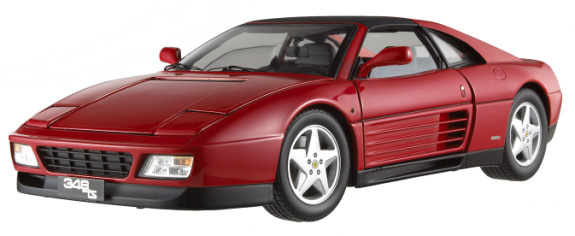 HOT WHEELS 1/18 ELITE FERRARI 348 TS - RED