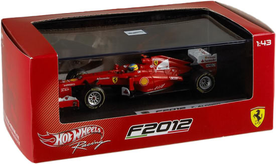 HOT WHEELS RACING 2012 1/43 FERRARI F2012 – FERNANDO ALONSO