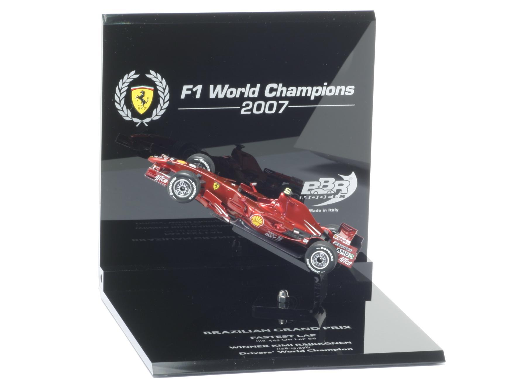 BBR 1/43 2007 FERRARI F2007 WORLD CHAMPION - KIMI RAIKKONEN