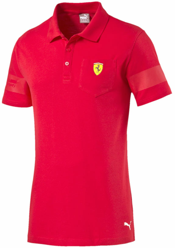 2016 PUMA SCUDERIA FERRARI SHIELD POLO T-SHIRT - RED - Click Image to Close