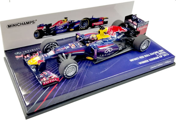 MINICHAMPS 1 43 2013 RED BULL RB9 GERMAN GP - SEBASTIEN VETTEL ... 2a7ce646a0aa7