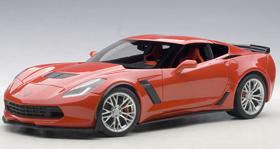 autoart 1 18 chevrolet corvette c7 z06 red 71262 can grand prix miniatures. Black Bedroom Furniture Sets. Home Design Ideas