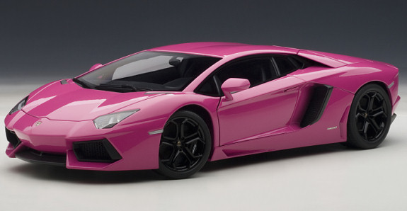autoart 1 18 lamborghini aventador lp700 4 pink 74660 limited edition. Black Bedroom Furniture Sets. Home Design Ideas