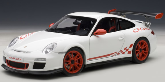 autoart 1 18 porsche 911 997 gt3 rs 3 8 blanche rouge autoart 1 18 porsche 911 997. Black Bedroom Furniture Sets. Home Design Ideas