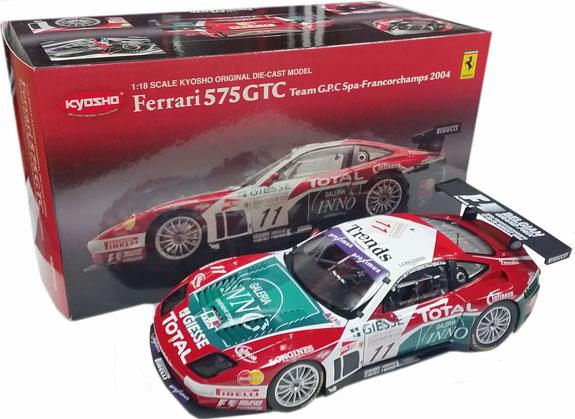 Kyosho 118 2004 Ferrari 575 Gtc 11 Team Gpc Giesse Ky08392a